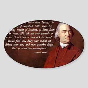 Samuel Adams Sticker (Oval)