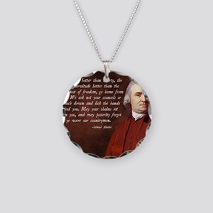 Samuel Adams Necklace Circle Charm