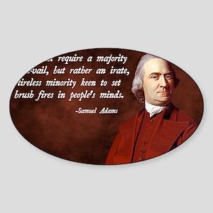 Samuel Adams Minority Quote Sticker (Oval)