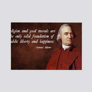 Samuel Adams Religion Quote Rectangle Magnet
