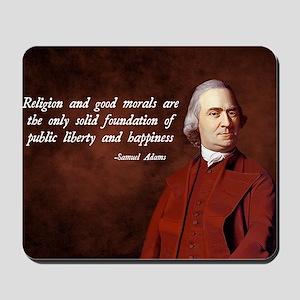 Samuel Adams Religion Quote Mousepad