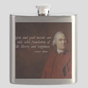 Samuel Adams Religion Quote Flask