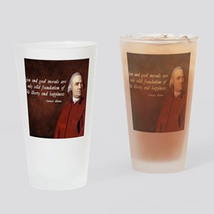 Samuel Adams Religion Quote Drinking Glass