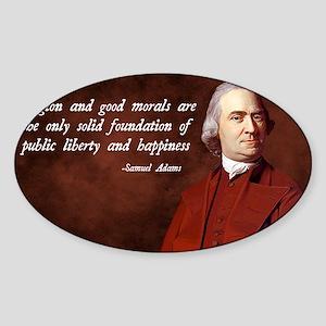 Samuel Adams Religion Quote Sticker (Oval)