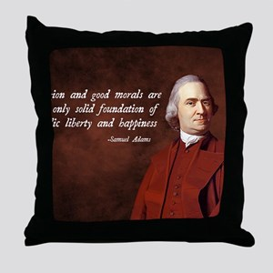 Samuel Adams Religion Quote Throw Pillow