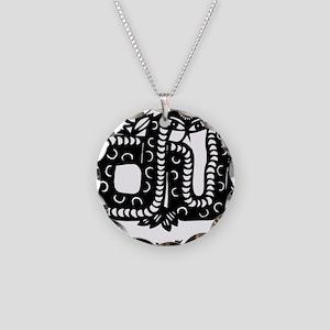 snake25cafeLight Necklace Circle Charm