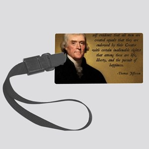 Declaration of Independence Quot Large Luggage Tag
