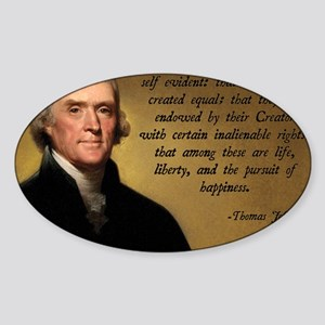 Declaration of Independence Quote Sticker (Oval)