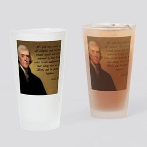 Declaration of Independence Quote Drinking Glass