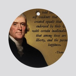 Declaration of Independence Quote Round Ornament