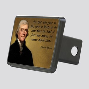 God and Liberty Quote Rectangular Hitch Cover