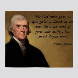 God and Liberty Quote Throw Blanket