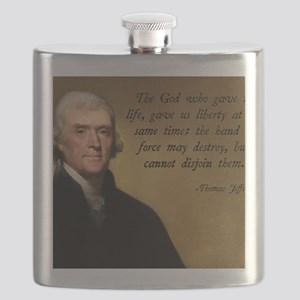 God and Liberty Quote Flask