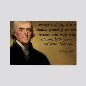 Thomas Jefferson Bible Quote Rectangle Magnet