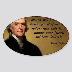 Thomas Jefferson Bible Quote Sticker (Oval)