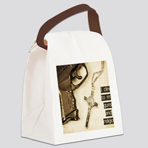 Guns and Religion Canvas Lunch Bag