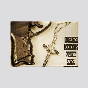 Guns and Religion Rectangle Magnet