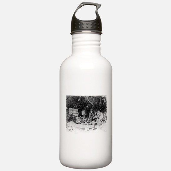 The smithy - Whistler - c1880 Water Bottle