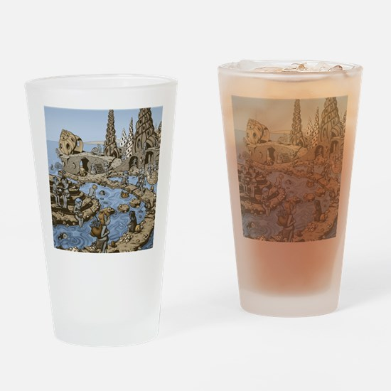 Shell Village Drinking Glass