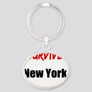 I survived NEW YORK Oval Keychain
