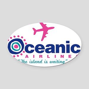 Shower Oceanic Oval Car Magnet