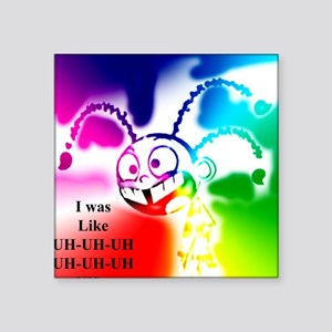 """UH x7 colors 2 inverse Square Sticker 3"""" x 3"""""""