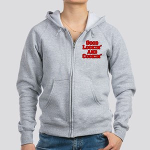 Good Lookin And Cookin funny ap Women's Zip Hoodie