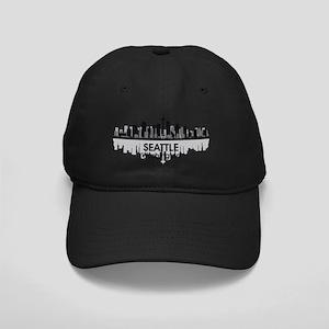 Awesome Seattle Skyline Black Cap