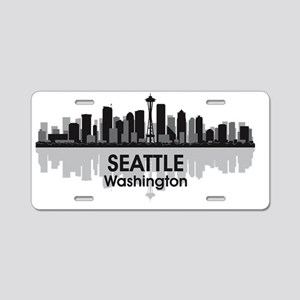 Awesome Seattle Skyline Aluminum License Plate