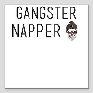 """Gangster Napper Square Car Magnet 3"""" x 3"""""""