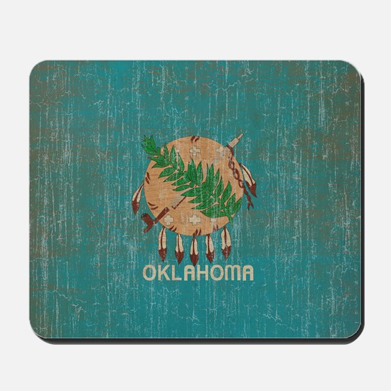 Vintage Oklahoma Flag Mousepad