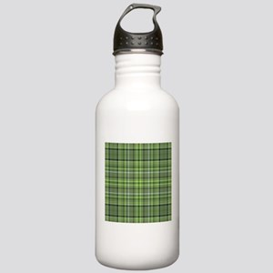 Green Plaid 4 Stainless Water Bottle 1.0L