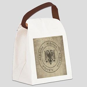 Vintage Albania Canvas Lunch Bag