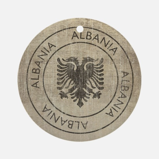 Vintage Albania Round Ornament