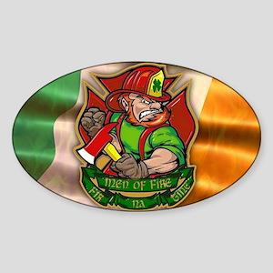 Men of Fire Sticker (Oval)