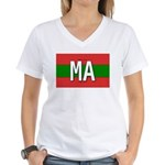 Morocco Colors Women's V-Neck T-Shirt