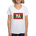 Morocco Colors Women's V-Neck T-Shirt