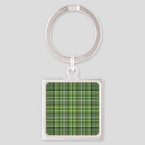 Green Plaid 4 Keychains