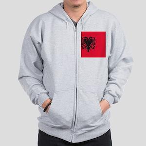 albania flag Zip Hoodie