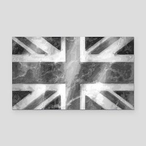 Union Jack Grey Rectangle Car Magnet