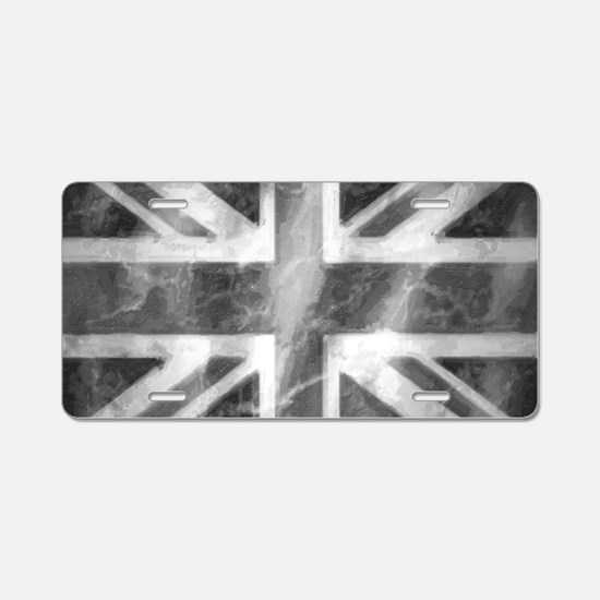 Union Jack Grey Aluminum License Plate