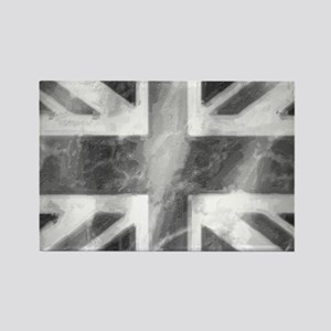 Union Jack Grey Rectangle Magnet