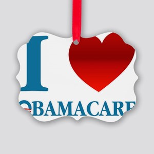 I Love Obamacare Picture Ornament