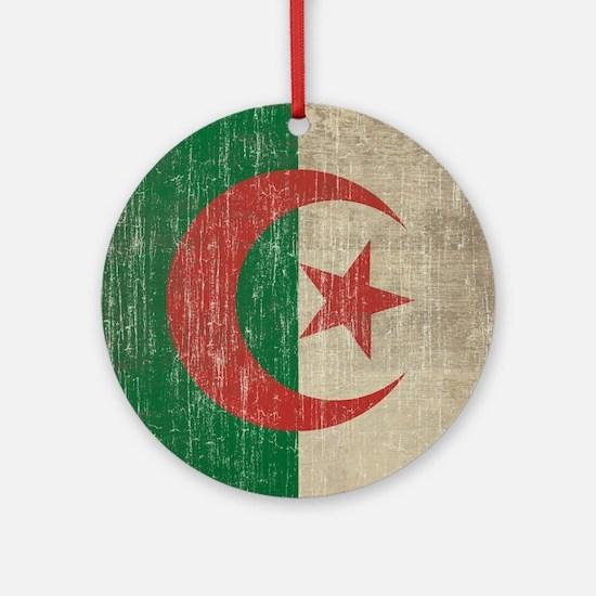 Vintage Algeria Flag Round Ornament