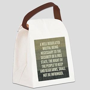 The Second Amendment Canvas Lunch Bag