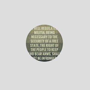 The Second Amendment Mini Button
