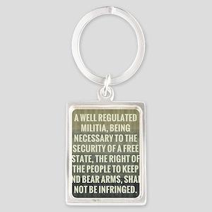 The Second Amendment Portrait Keychain