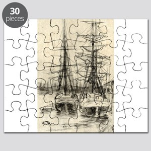 Two ships - Whistler - 1888 Puzzle