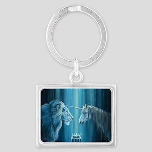 The Lion  The Unicorn Landscape Keychain
