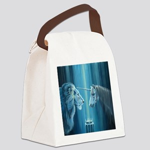The Lion  The Unicorn Canvas Lunch Bag